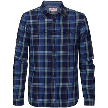 Vêtements Homme Chemises manches longues Petrol Industries SIL4210 6142 BUSHWICK Bleu marine