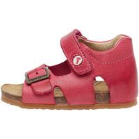 Chaussures Enfant Sandales et Nu-pieds Falcotto BEA-sandale en cuir avec boucle et velcro® fuchsia