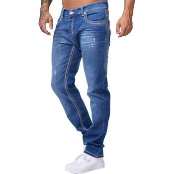 Vêtements Homme Jeans slim Monsieurmode Jean fashion pour homme Jean 5176 bleu Bleu