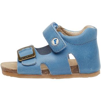 Chaussures Enfant Sandales et Nu-pieds Falcotto BEA-sandale en cuir avec boucle et velcro® bleu