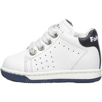Chaussures Garçon Baskets montantes Falcotto ADAM-baskets lacées en nappa bicolore-blanc blanc