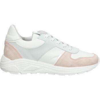 Chaussures Femme Baskets basses Steven New York Sneaker Weiß/Rosa