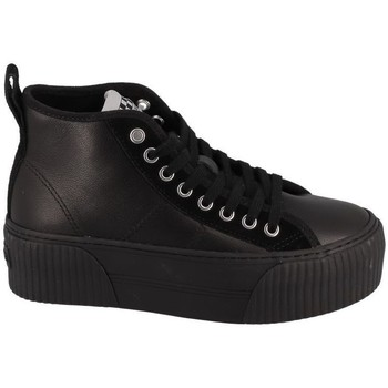 Chaussures Femme Baskets montantes No Name Basket Montante Plateforme Iron Mid Savage/suede Noir