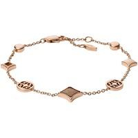 Montres & Bijoux Femme Bracelets Fossil Bracelet  en Acier Rose Rose