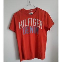 Vêtements Homme T-shirts manches courtes Tommy Hilfiger Tee-shirt orange Hilfiger Denim Orange