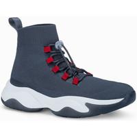 Chaussures Homme Baskets montantes Monsieurmode Basket homme fashion Basket 355 gris foncé Gris