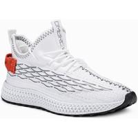 Chaussures Homme Baskets basses Monsieurmode Basket homme fashion Basket 372 blanc Blanc