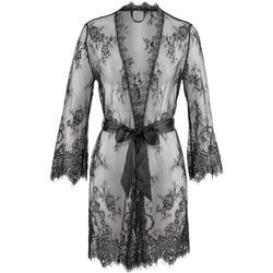Vêtements Femme Pyjamas / Chemises de nuit Lascana Kimono Temptation Noir