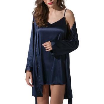 Vêtements Femme Pyjamas / Chemises de nuit Luna Kimono satin Prestige Bleu