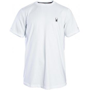 Vêtements Homme T-shirts manches courtes Spyder T-shirt noir pour homme Blanc
