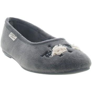 Chaussures Femme Chaussons La Maison De L'espadrille 6051 4 MOUTON Gris