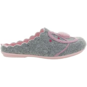 Chaussures Femme Chaussons La Maison De L'espadrille 9054 4 COEUR Gris