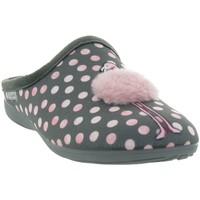 Chaussures Femme Chaussons La Maison De L'espadrille 6536 FLAMANT ROSE Gris