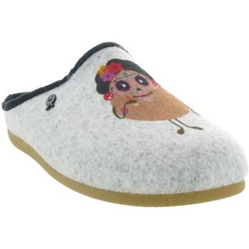 Chaussures Femme Chaussons Hot Potatoes 61054 FREITAL Gris
