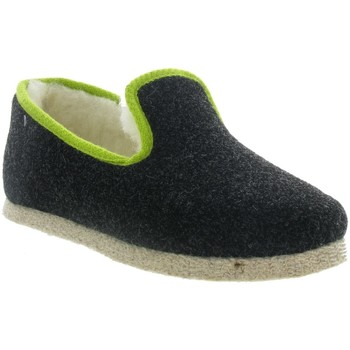 Chaussures Femme Chaussons Chausse Mouton TWEED Noir