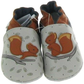 Chaussures Garçon Chaussons bébés Robeez FRIENDLY RETURN Gris
