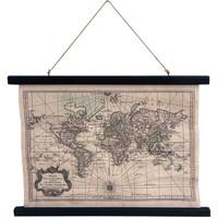 Maison & Déco Tableaux, toiles Retro Toile déco Globe terrestre à suspendre Beige