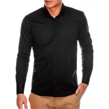 Vêtements Homme Chemises manches longues Monsieurmode Chemise homme slim-fit Chemise 504 noir Noir