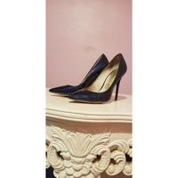 Chaussures Femme Escarpins Buffalo Escarpin Buffalo vernie bleu marine Bleu