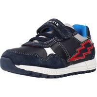 Chaussures Fille Baskets basses Geox B ALBEN BOY Bleu