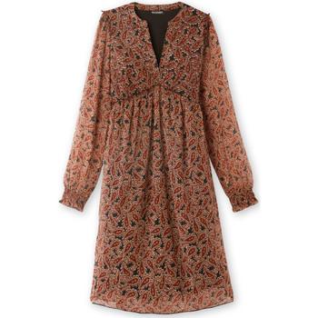 Vêtements Femme Robes longues Balsamik Robe taille haute en voile imprimchocolat