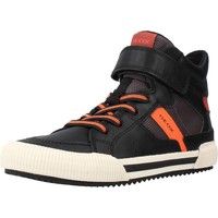 Chaussures Garçon Baskets basses Geox J ALONISSO BOY Noir