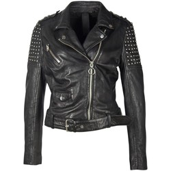 Vêtements Femme Vestes en cuir / synthétiques Gipsy 2.0 Veste perfecto motard en cuir Gipsy Ref 54001 noir Noir