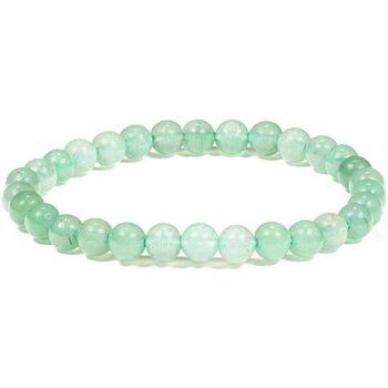 Montres & Bijoux Bracelets Zen Et Ethnique Bracelet élastique pierres d'Aventurine Vert
