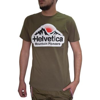 Vêtements Homme T-shirts manches courtes Helvetica T-shirt  kaki - POST - H500 KAKI Kaki