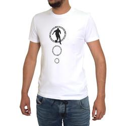 Vêtements Homme T-shirts manches courtes Bikkembergs T-shirt  Blanc Blanc
