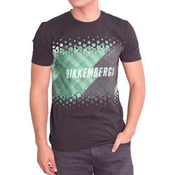 Vêtements Homme T-shirts manches courtes Bikkembergs Tshirt  noir - C 7 001 89 E 1906 Noir