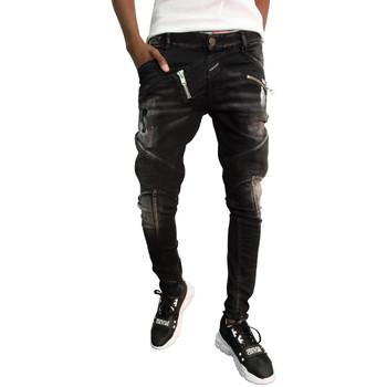 Vêtements Homme Jeans slim Boragio Jeans  noir - 7568 Noir