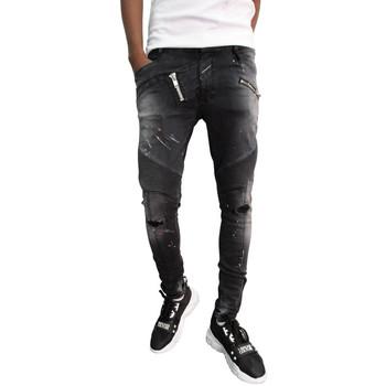 Vêtements Homme Jeans slim Boragio Jeans  noir - 7572 Noir