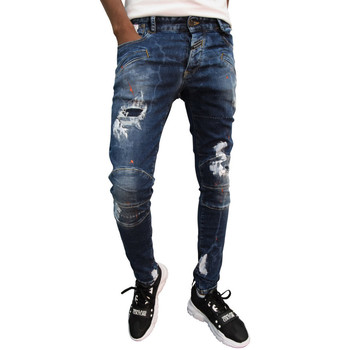 Vêtements Homme Jeans slim Boragio Jeans  bleu - 7563 Bleu