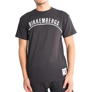 Vêtements Homme T-shirts manches courtes Bikkembergs T-shirt  Noir Noir