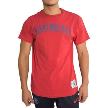Vêtements Homme T-shirts manches courtes Bikkembergs T-shirt  Rouge Rouge