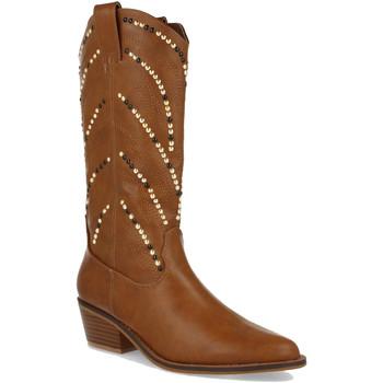 Chaussures Femme Bottes ville Buonarotti 1A-0407 Camel