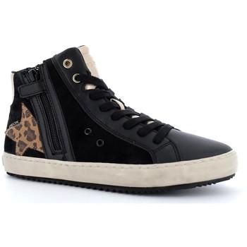 Chaussures Fille Baskets montantes Geox Kalispera Noir