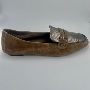 Chaussures Femme Mocassins Reqin's MOCASSIN PEAU VISON Gris