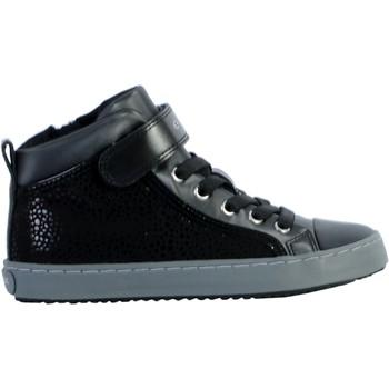 Chaussures Femme Baskets montantes Geox Basket Montante /Fille Kalispera J744GI Noir