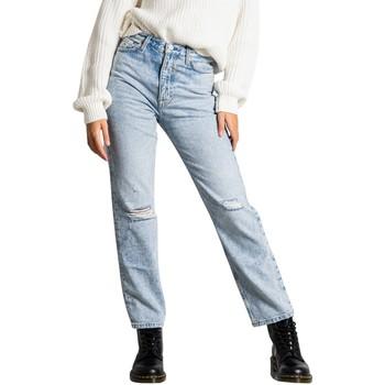 Vêtements Femme Jeans droit Tommy Hilfiger DW0DW10602 bleu