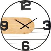 Maison & Déco Horloges Atmosphera Horloge silencieuse Emy D60 Noir