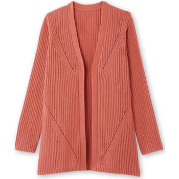 Vêtements Femme Gilets / Cardigans Kocoon Gilet bord à bord maille fantaisie rose