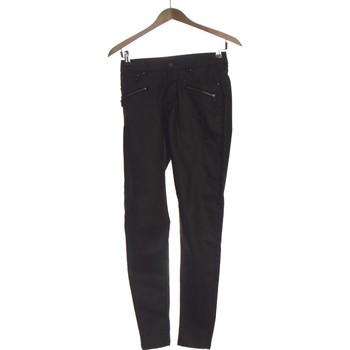Vêtements Femme Chinos / Carrots Etam Pantalon Slim Femme  34 - T0 - Xs Noir