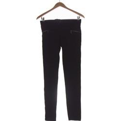 Vêtements Femme Chinos / Carrots Camaieu Pantalon Slim Femme  36 - T1 - S Noir