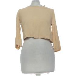 Vêtements Femme Tops / Blouses Forever 21 Top Manches Longues  36 - T1 - S Beige