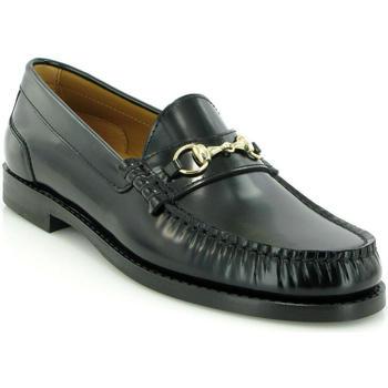 Chaussures Femme Derbies Atlanta Mocassin Mocassins Sarah en cuir avec boucle Noir