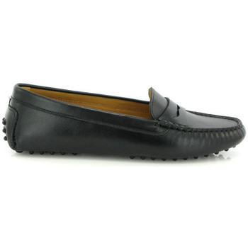 Chaussures Femme Derbies Atlanta Mocassin Mocassins Michèle en cuir lisse Noir
