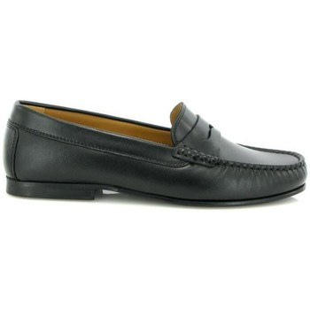 Chaussures Femme Derbies Atlanta Mocassin Mocassins Yoki en cuir noir Noir