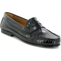 Chaussures Femme Derbies Atlanta Mocassin Mocassins Yoki en cuir verni noir Noir